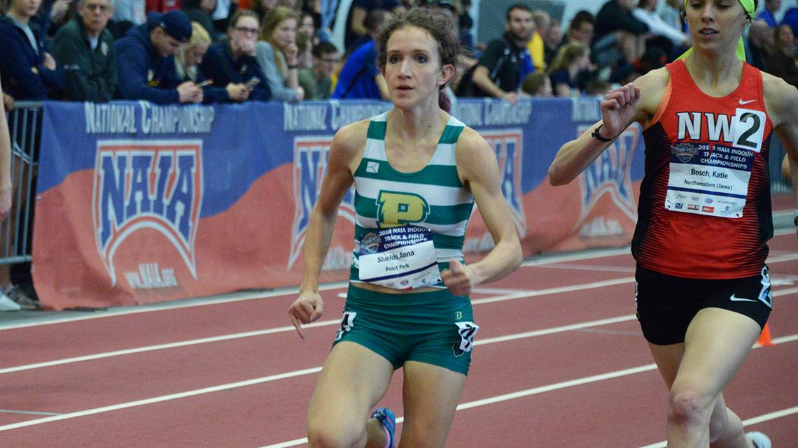 Pictured: Anna Shields winning the 1,000m prelims on Friday night. Photo by  Colin