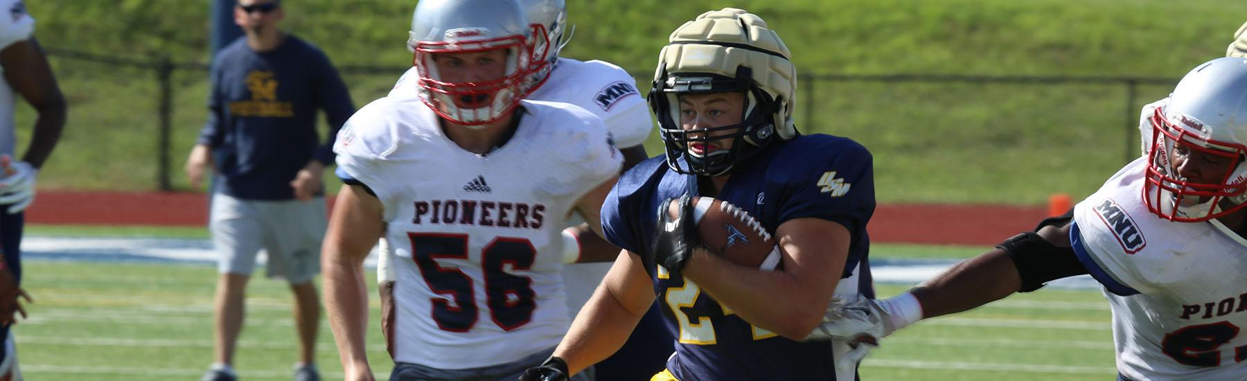 football holds scrimmage against mnu | university of saint mary