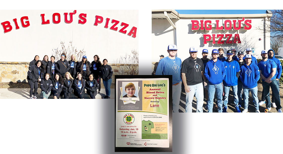 Photo for OLLU's baseball and softball teams participate in Big Lou's Pizza's Blood Drive