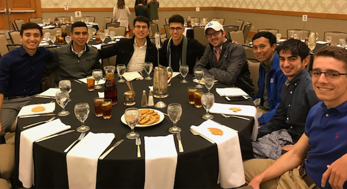 The men enjoyed the banquet that took place on Friday.