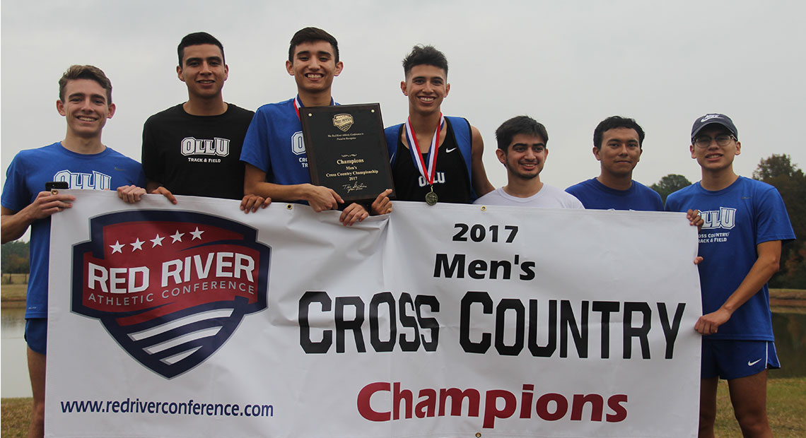 Photo for OLLU men's cross-country wins third conference title