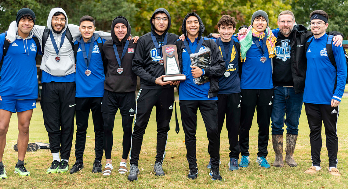 Photo for OLLU men's cross-country wins fifth consecutive conference championship