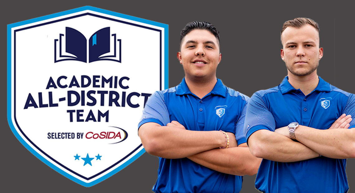 Photo for OLLU golf's Joshua Sturt and Kane Ybarra earn CoSIDA Academic All-District Team honors