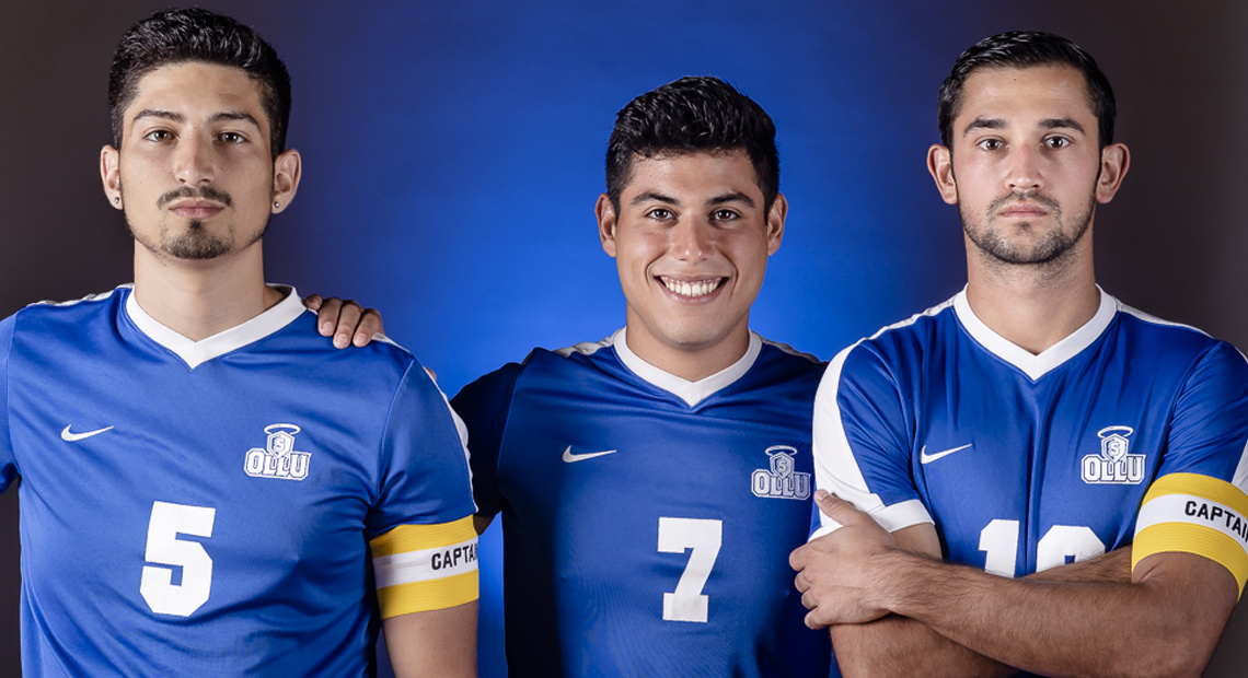 Pictured are team captains Nick Genthon, Adrian Delgado and Jose Barraza.