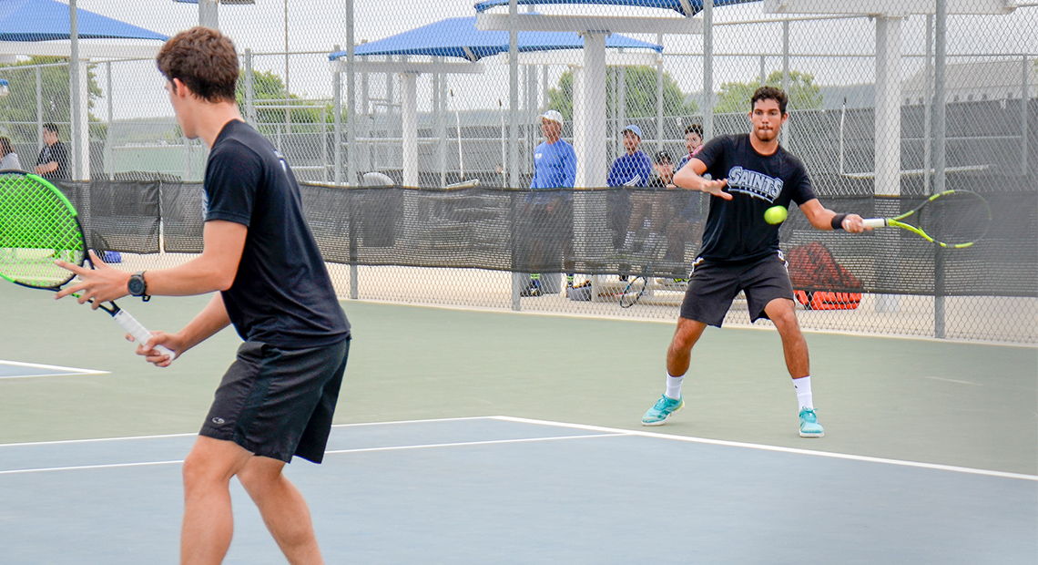 Photo for Men's tennis advances to finals of regional tournament