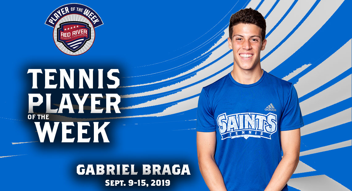 Photo for OLLU's Gabriel Braga wins conference Tennis Player of the Week