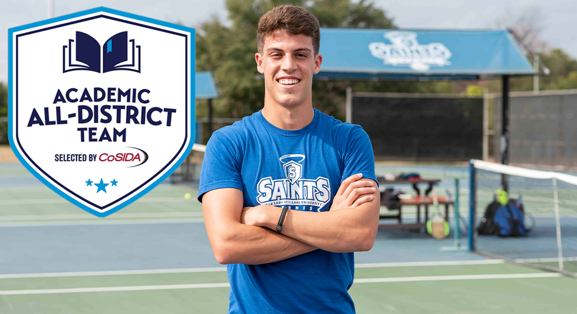 Photo for OLLU tennis' Gabriel Braga selected to CoSIDA Academic All-District Team
