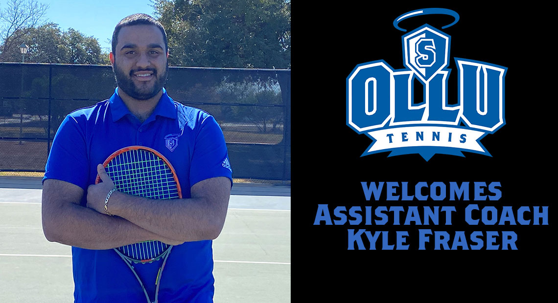 Kyle Fraser is the new assistant coach for men's tennis.