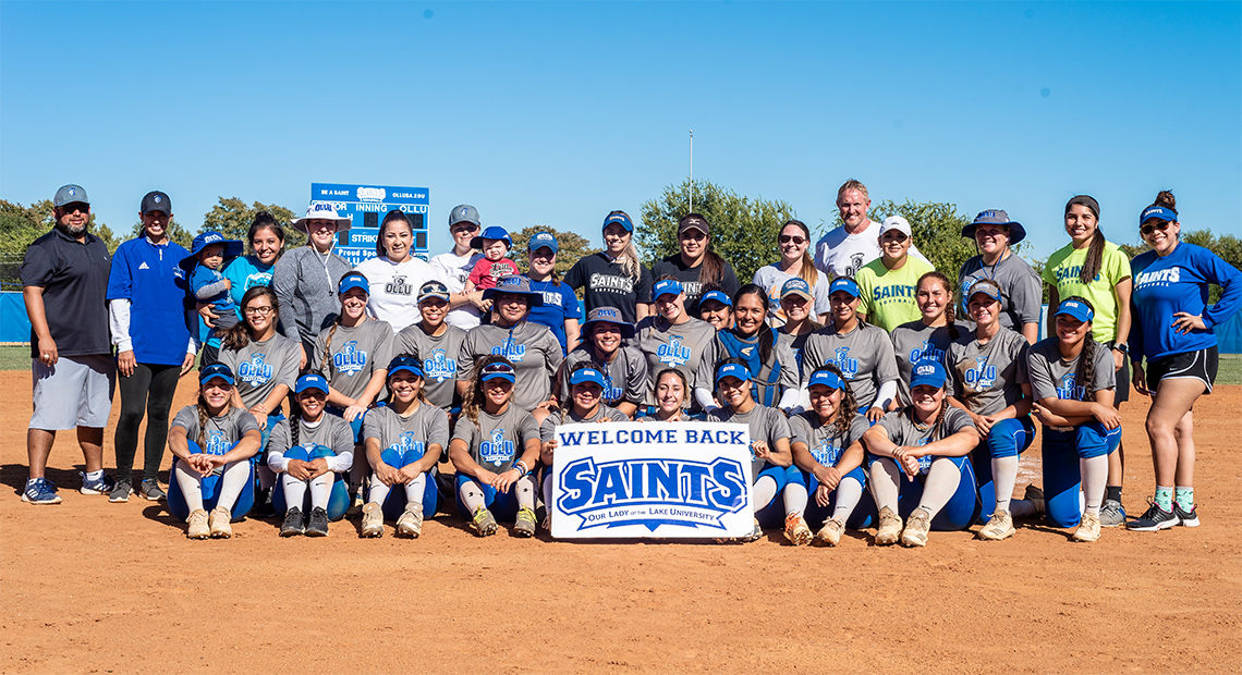Photo for Saints softball hosted game/reception for alumni last weekend