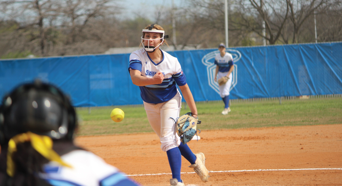 Ciera Martinez pitched tough for the Saints in game one and three of the three-game series.