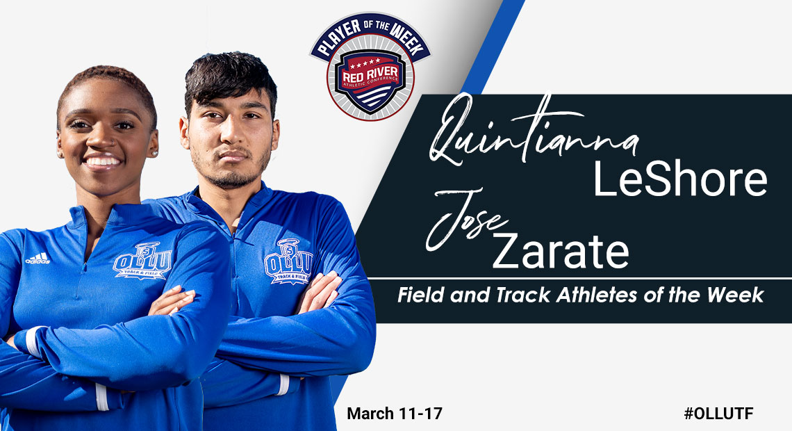 Photo for OLLU's LeShore earns field athlete of the week, while Zarate wins track athlete of the week