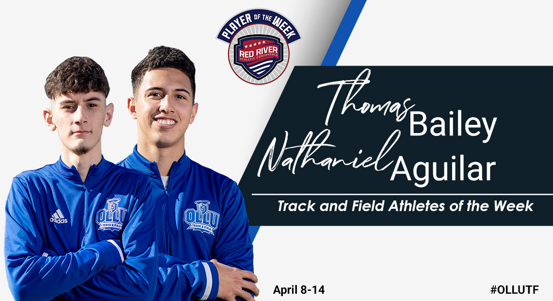 Photo for Nathaniel Aguilar and Thomas Bailey earn weekly Track and Field awards