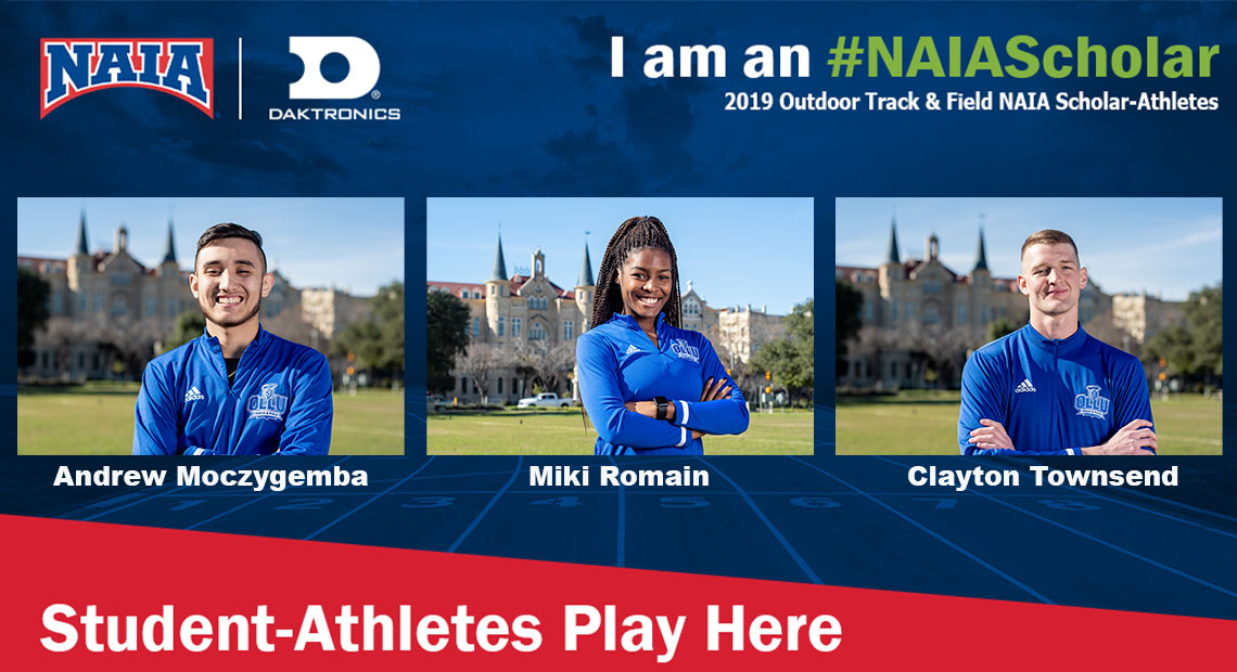 Photo for Three track and field student-athletes earn NAIA Scholar Athlete recognition