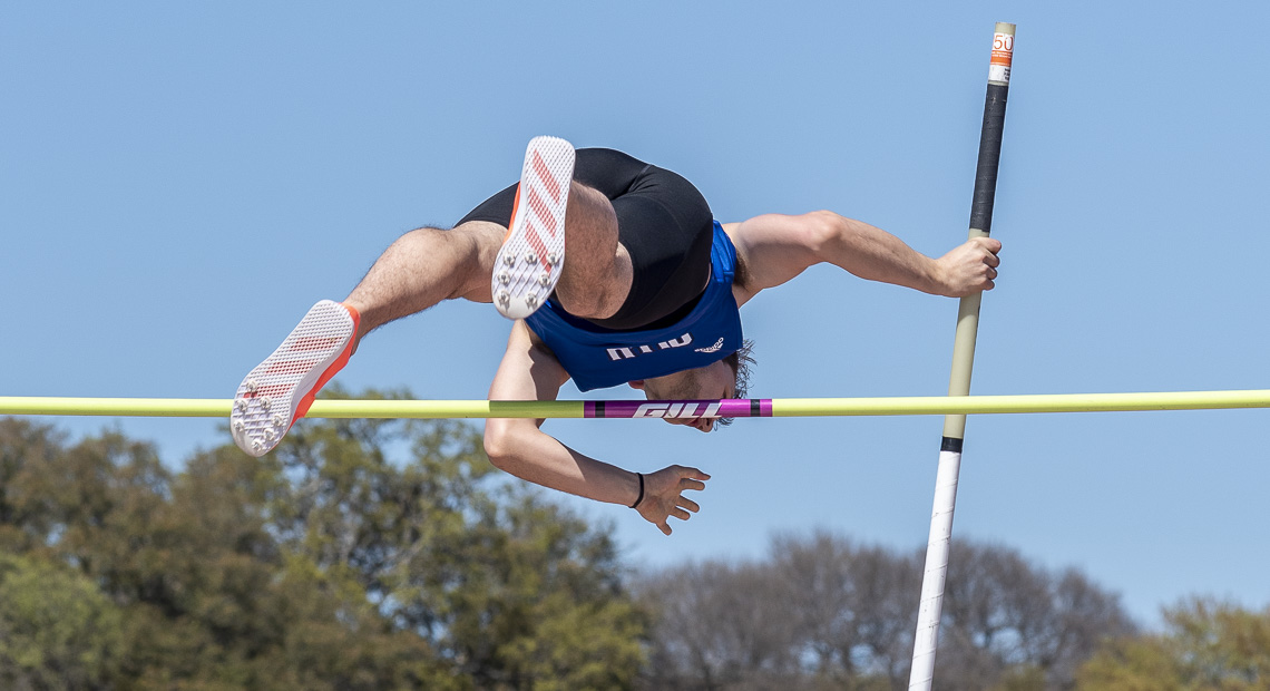Colton Townsend participated in the pole vault.