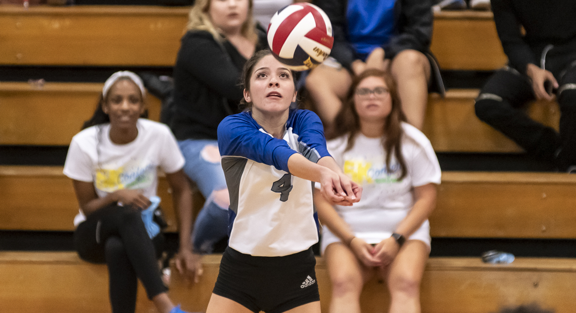 Alyssa Marquez tallied 11 digs for the Saints.