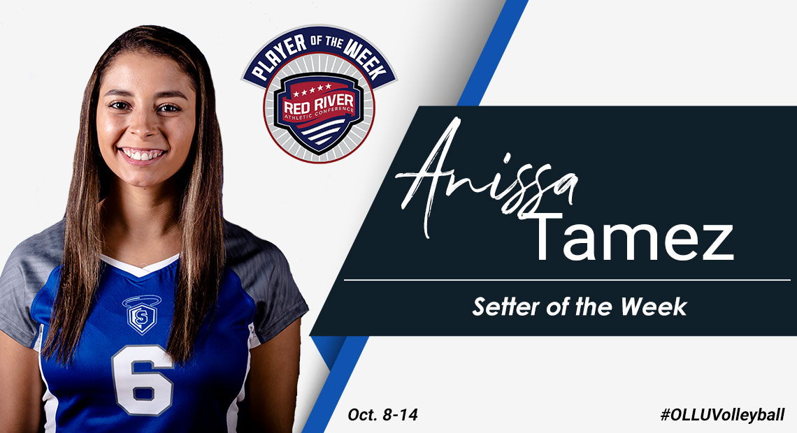Photo for OLLU's Anissa Tamez earns third RRAC Setter of the Week honors