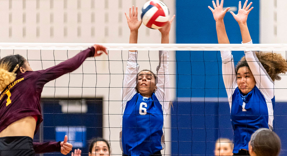 Photo for OLLU volleyball falls in five-set thriller to Huston-Tillotson in championship match