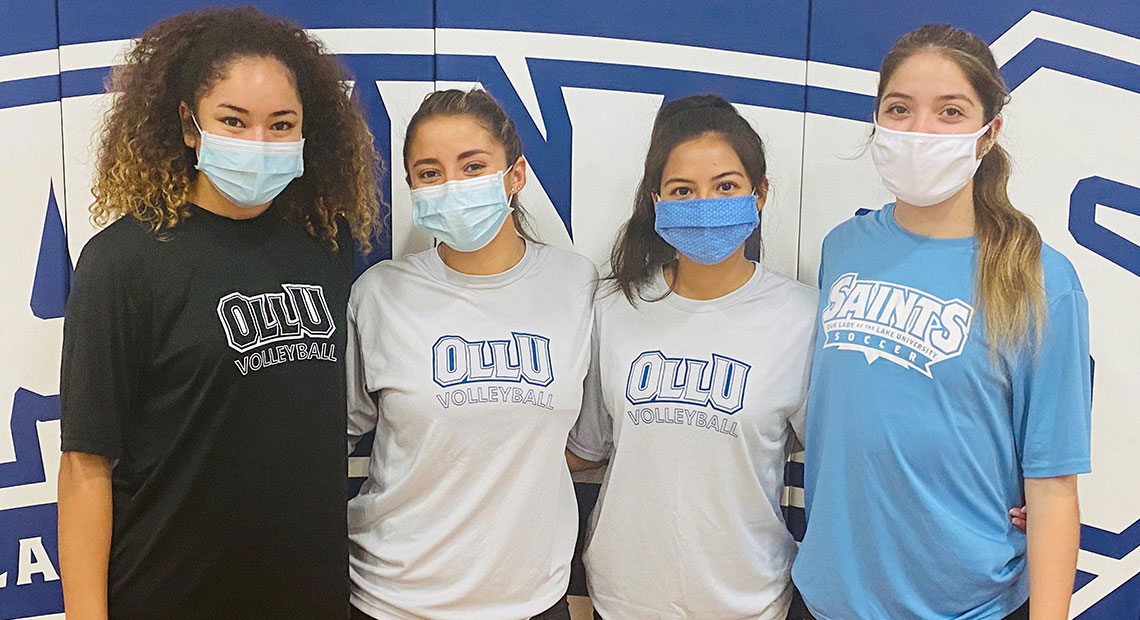 Pictured from (l-r) are seniors Kalani Ketchens, Anissa Tamez, Amanda Esparza and junior Alyssa Marquez.