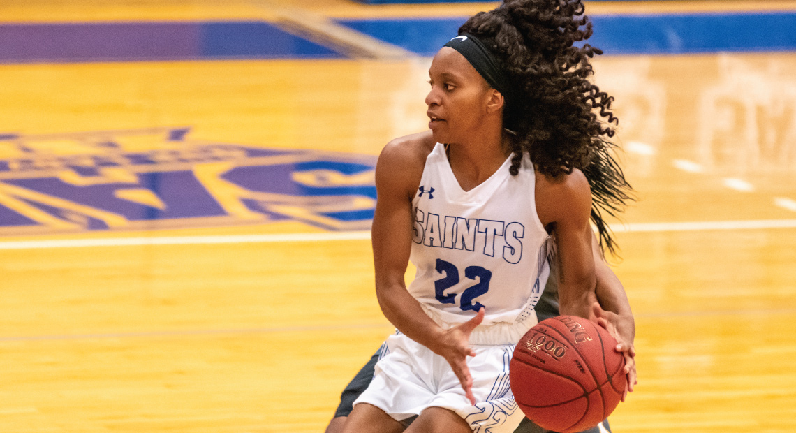 Lena Wilson was the Saints' second highest scorer on the night with 15 points.