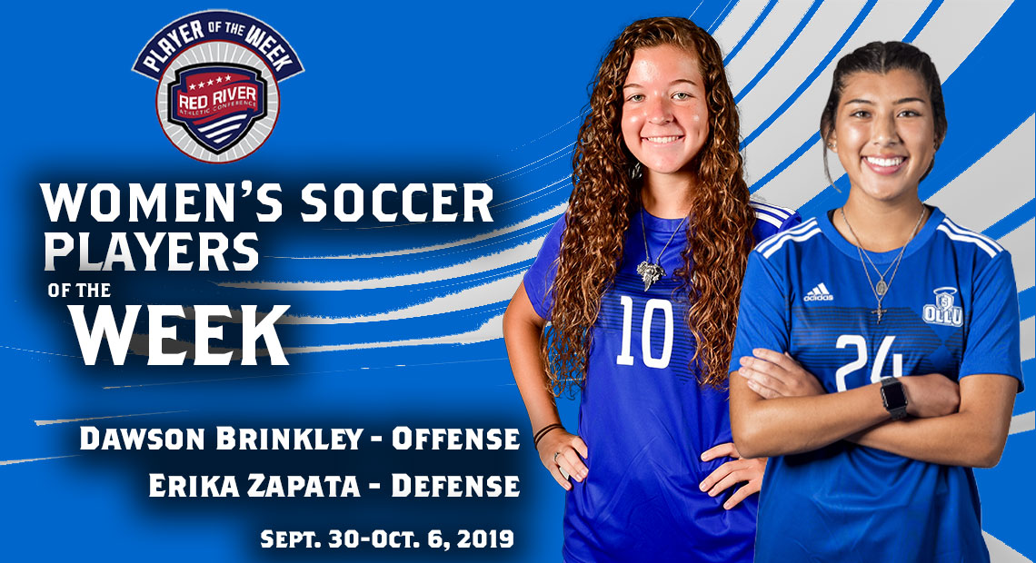 Photo for OLLU's Brinkley and Zapata win soccer weekly awards
