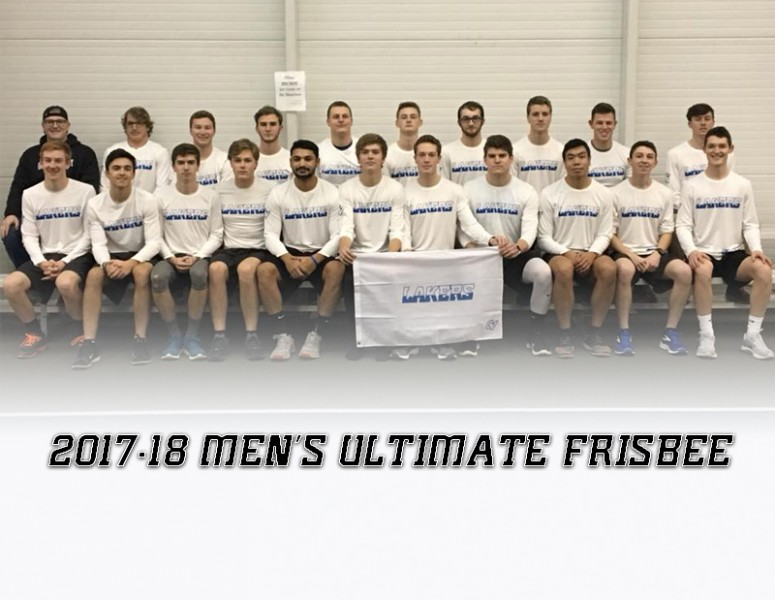 2017-18 Men's Ultimate Frisbee Team Photo