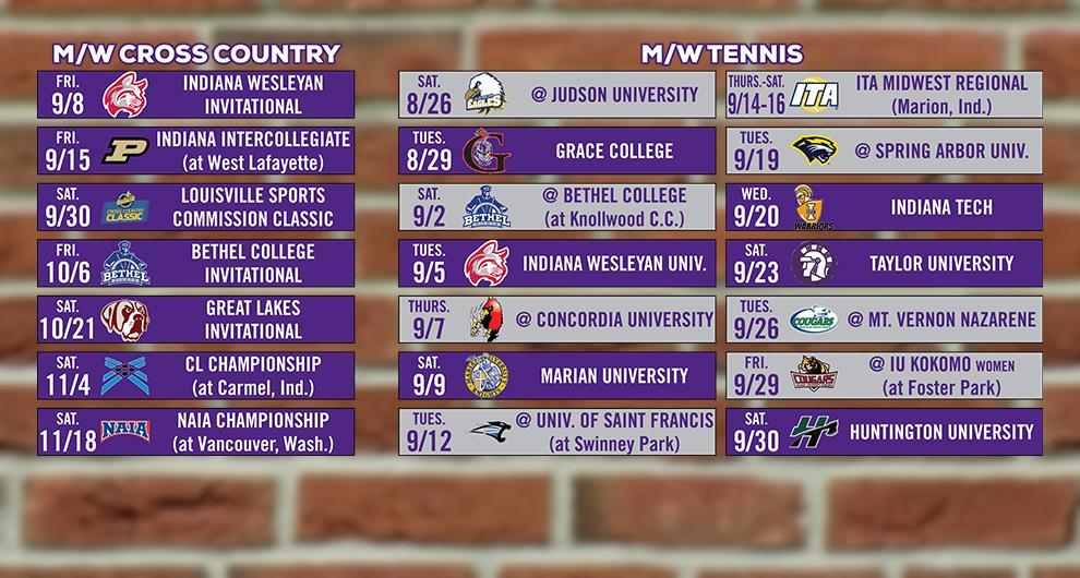 Goshen College Announces 2017 Tennis, Cross Country Schedules