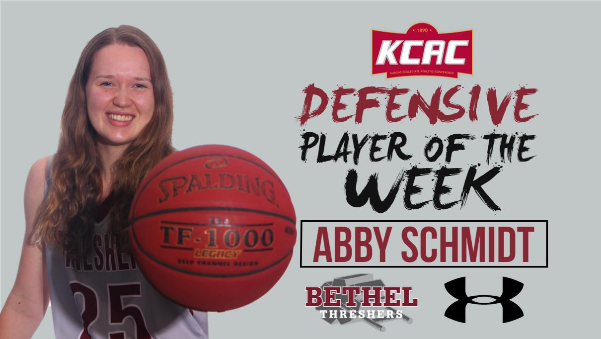 Abby Schmidt picks up KCAC Defensive Player of the Week honors ... 90d0c20819b1d