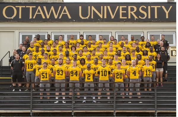 Ottawa University 2015 Football Roster