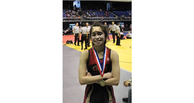 Photo for Senior, Jacyln McNichols, Goes Undefeated At Cy-Fair Invitational