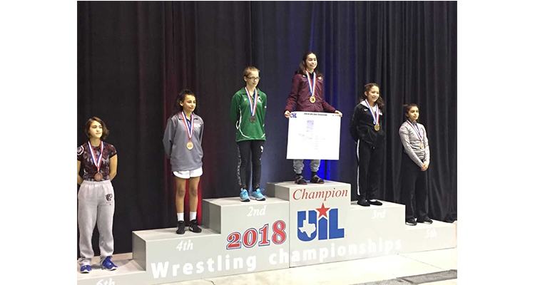 Photo for Senior, Jaclyn McNichols Wins UIL 5A State Wrestling Title!
