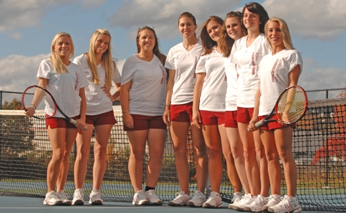 2010 Women's Tennis Roster Team Photo