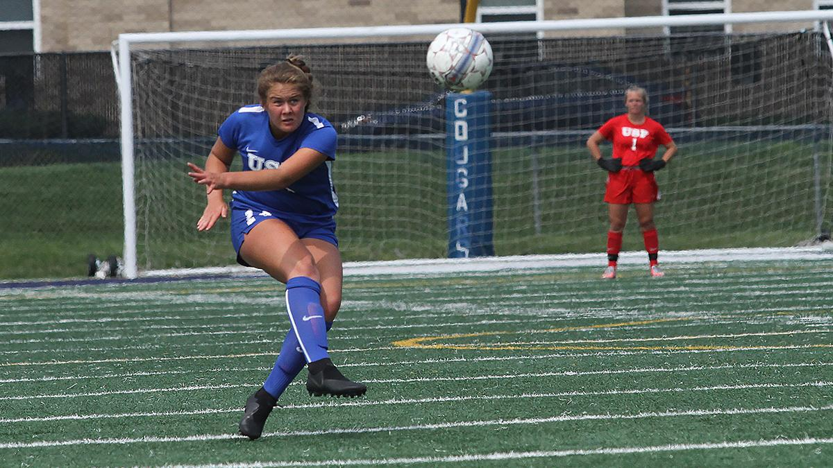 Ellen Weikert s first collegiate goal put the Lady Cougars in the win  column on Saturday. 31a6f413c