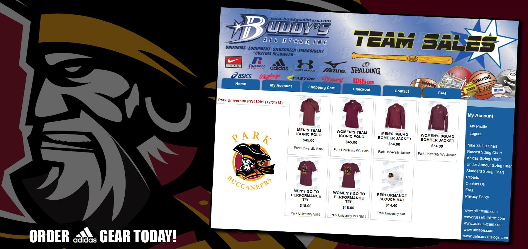 Now Available Order Your Park University Gilbert Buccaneer Gear