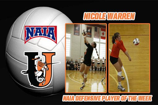 Nicole Warren named NAIA Defender of the Week | North Star