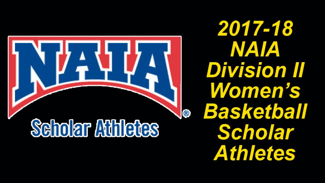 2017 18 Daktronics NAIA Division II Womens Basketball Scholar Athletes Announced