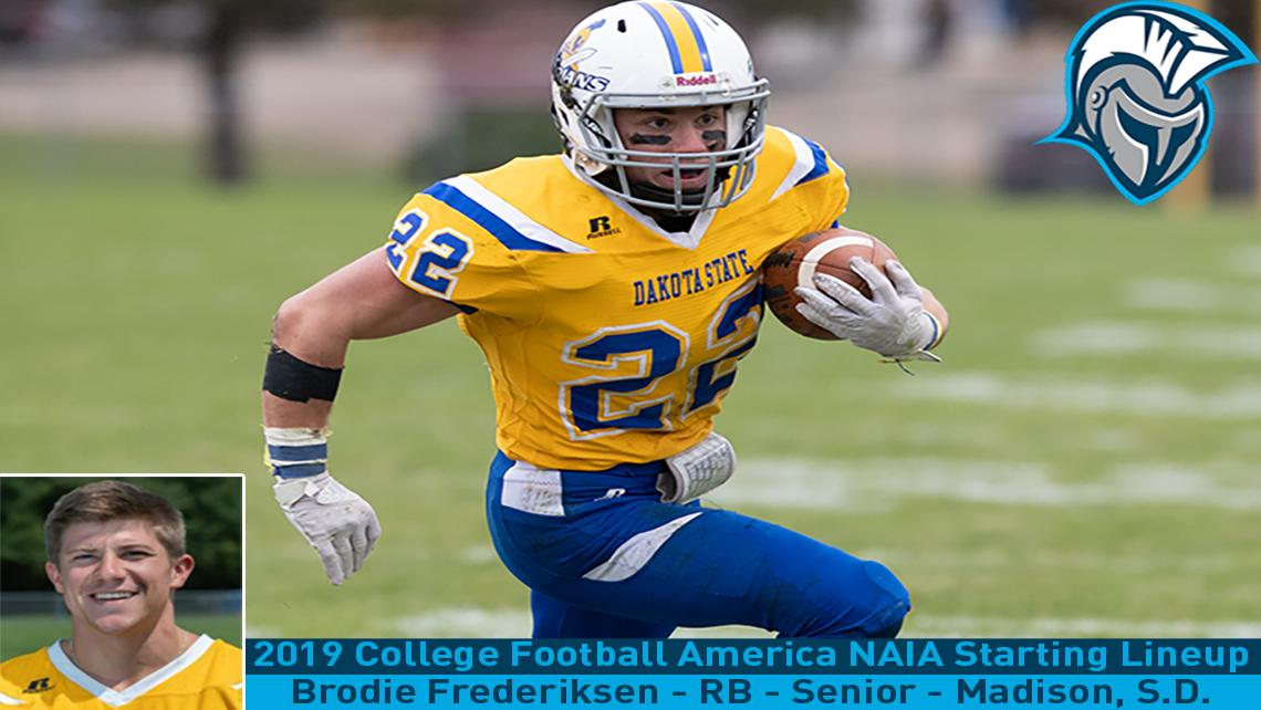 Frederiksen Named To 2019 College Football America Naia