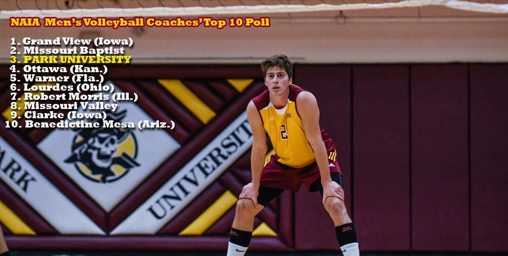 d516b9651 The Pirates drop two spots in the NAIA Men's Volleyball Coaches' Top 10  Poll.
