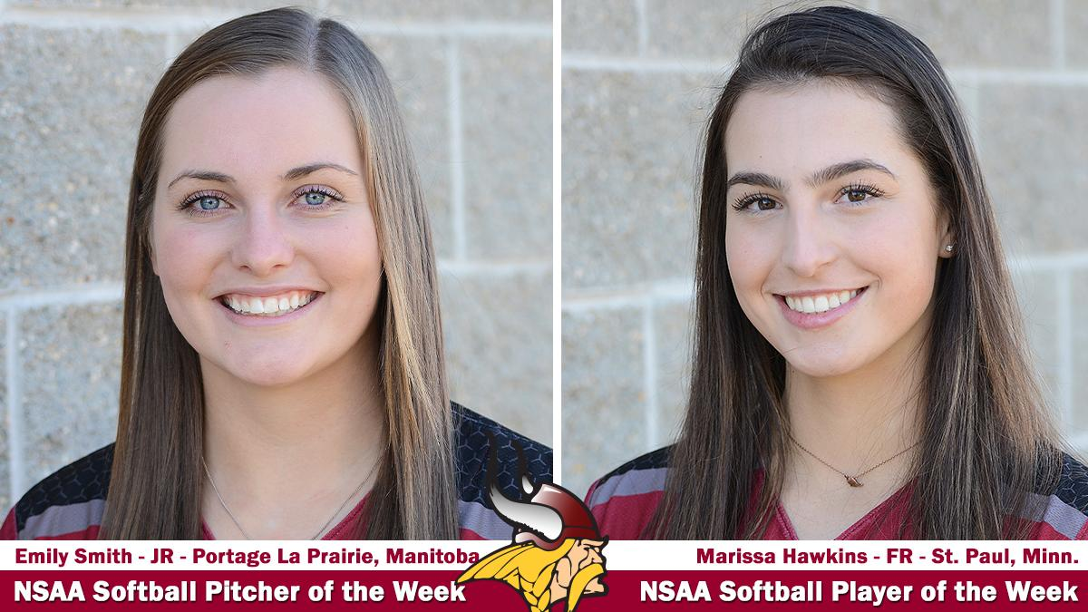 Smith And Hawkins Named Nsaa Softball Players Of The Week Valley