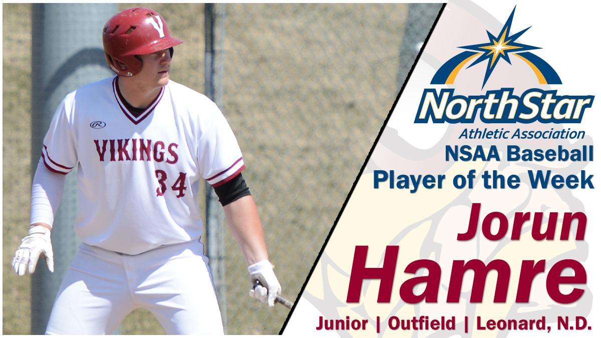 Baseball: Jorun Hamre named NSAA Player of the Week | Valley City