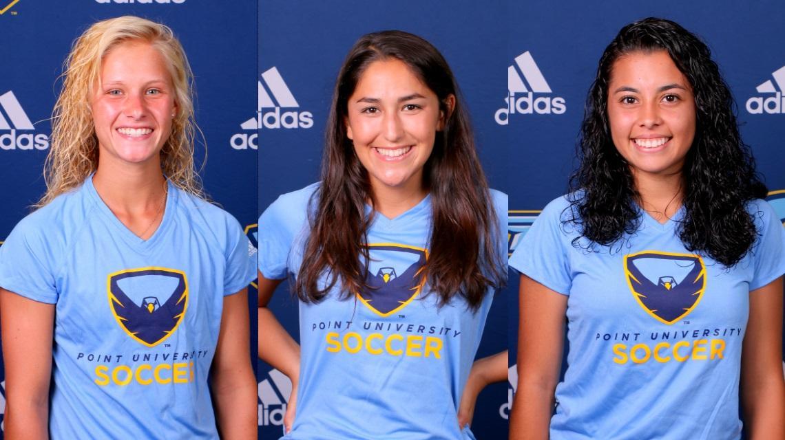 59329de5157 Left to Right: Freshman Kelly Carlisle (1); junior Sabria Marquez (9