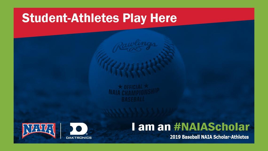 8efea735 Baseball Lands 16 on Daktronics-NAIA Scholar-Athlete Roster