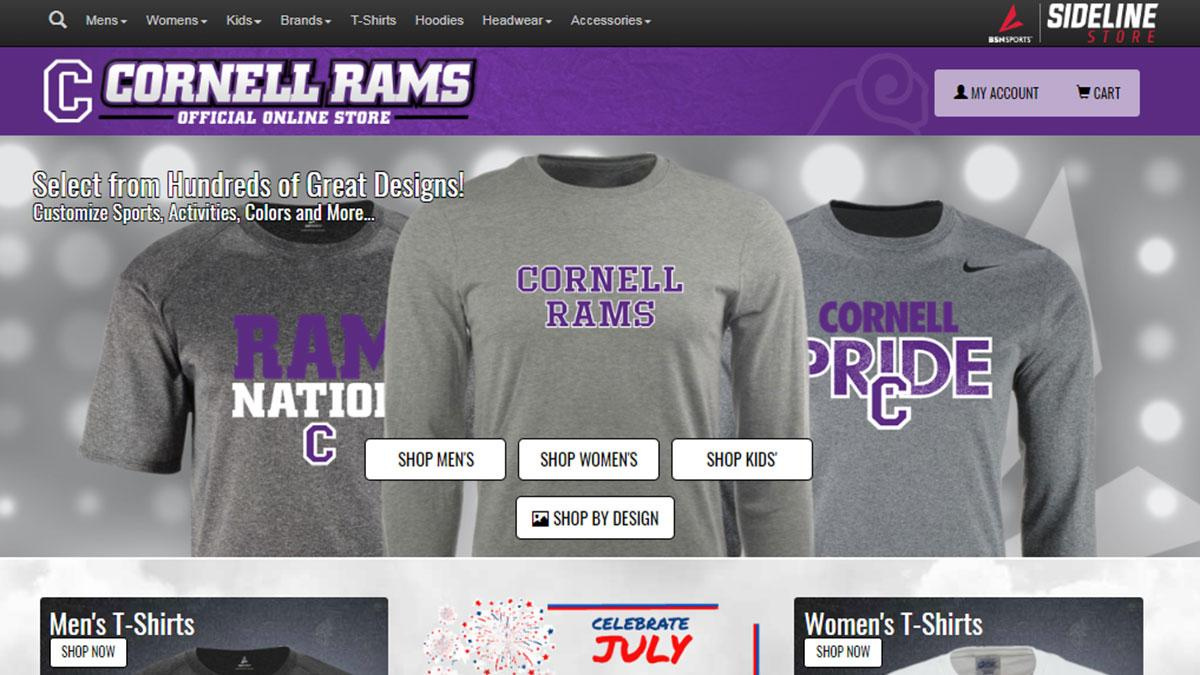 Cornell Athletics launches new online apparel store  1b09c440dd64
