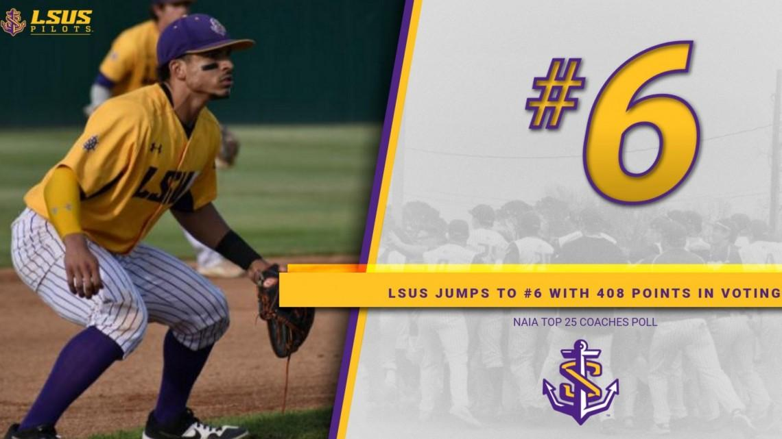Lsus Baseball Jumps To 6 In Latest Naia Top 25 Poll Lsu Shreveport Athletics