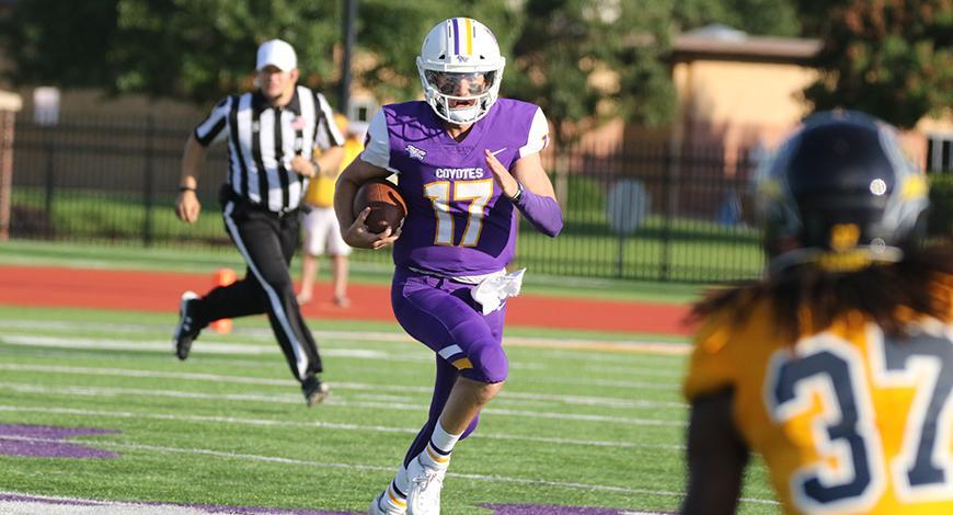 No 4 Ranked Football Beats Texas Wesleyan 48 24 To Open Season Kansas Wesleyan University Athletics