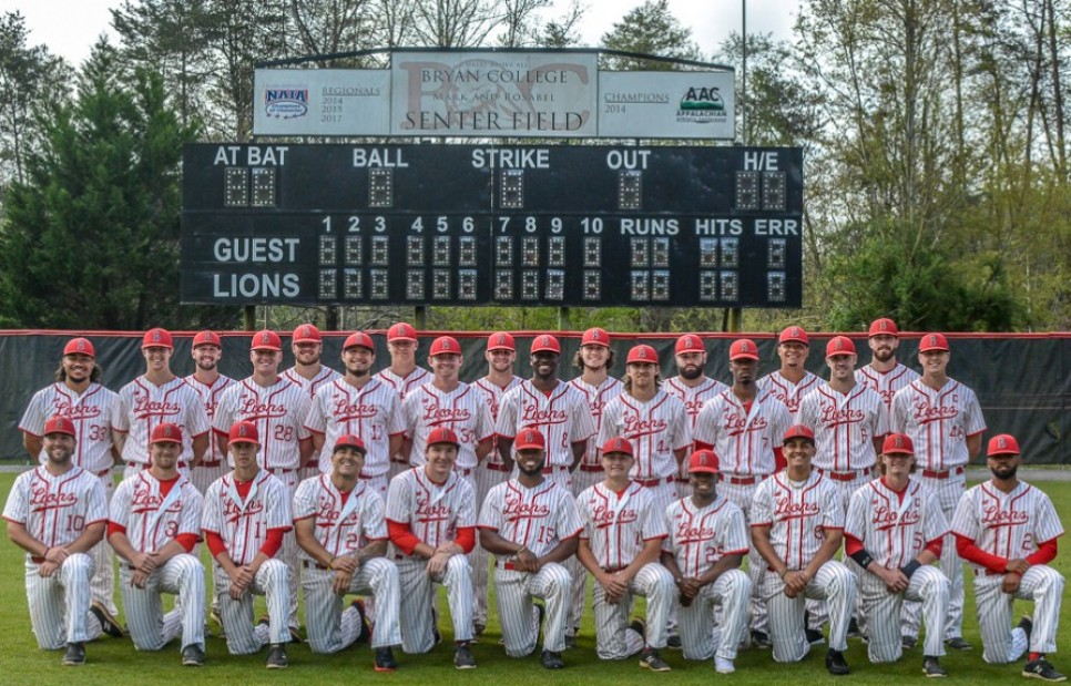 2019 Baseball Roster Bryan College