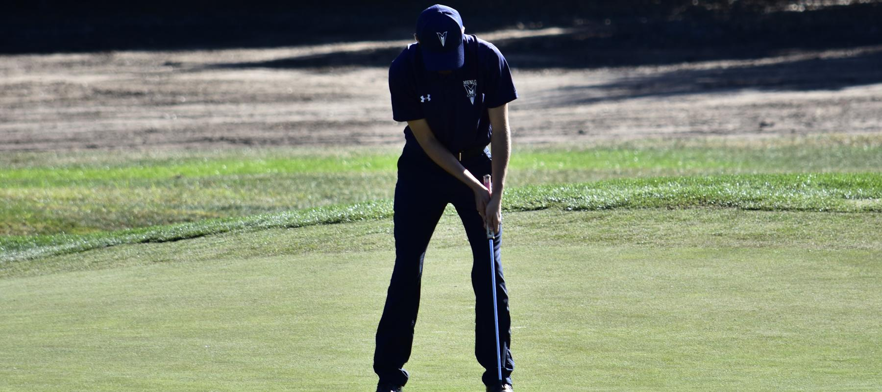 Fredrik Ingul in the lead, Men's Golf tied for Third after Day one