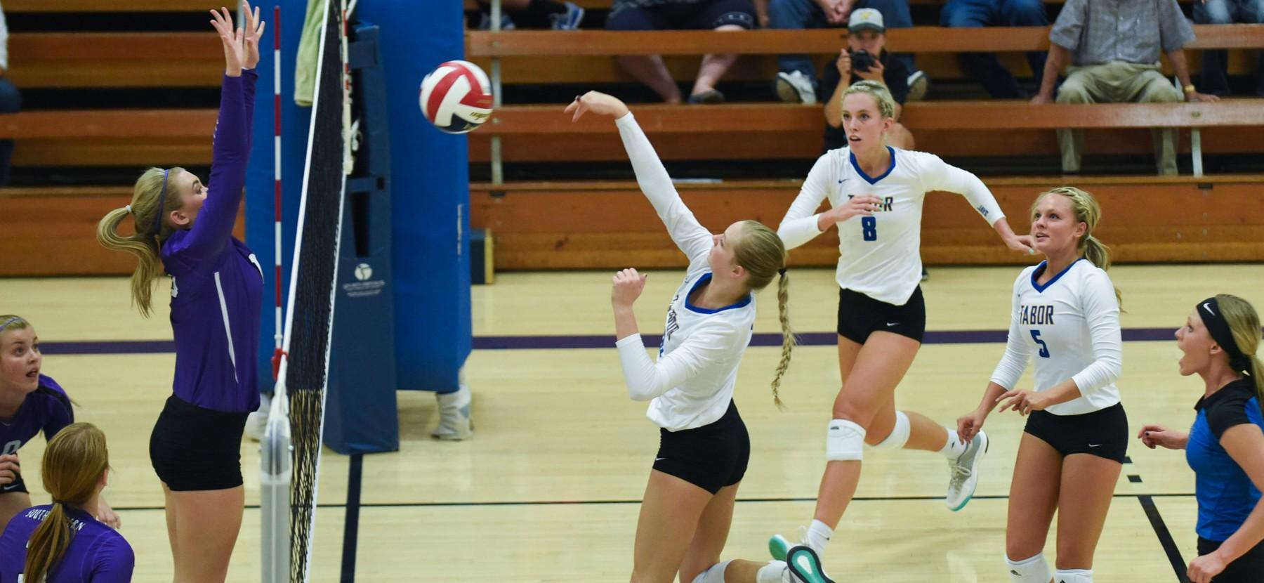 Volleyball Sweeps Bethel Over The Weekend Tabor College Athletics