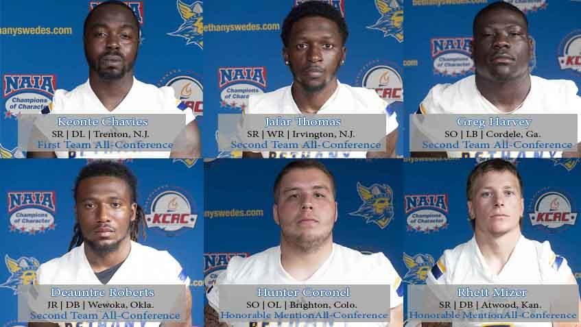 Six Swedes Earn All Kcac Football Nods Bethany College Athletics