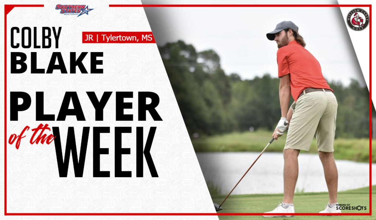 Colby Blake Named SSAC Golfer of the Week | William Carey