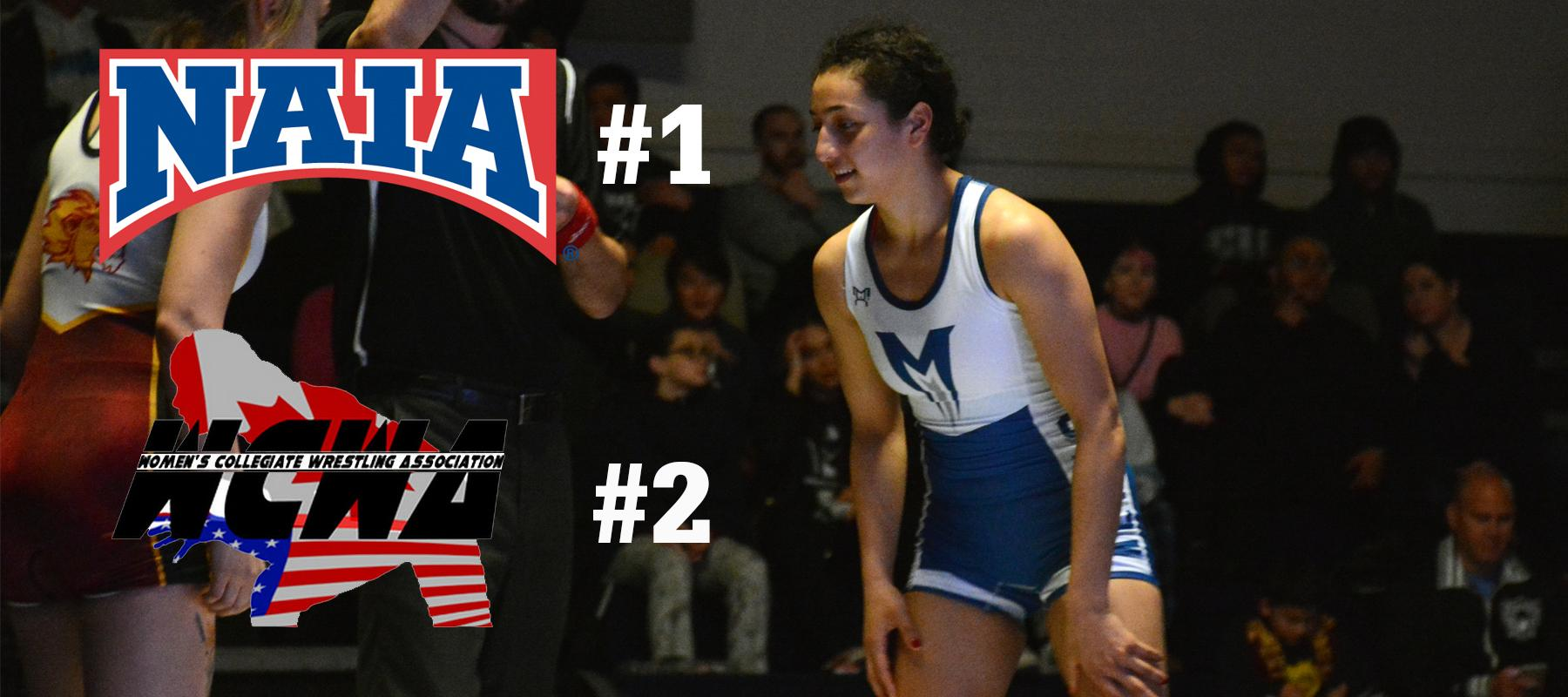 Women's Wrestling Maintains #1 NAIA Ranking, Improves to #2 WCWA